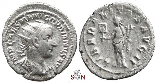Ancient Coins - Gordianus III. Antoninianus - LIBERALITAS AVG II - RIC 36