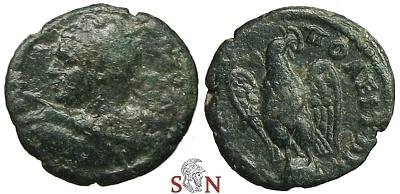 Ancient Coins - Caracalla AE 17 - Hadrianopolis - Thrace - Eagle on globe - Very Rare