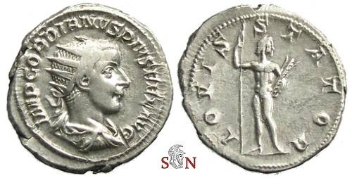 Ancient Coins - Gordianus III Antoninianus - IOVI STATORI - RIC 25
