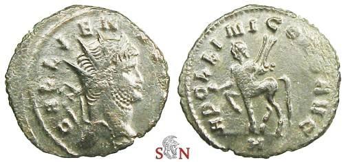 Ancient Coins - Gallienus Antoninianus - APOLLINI CONS AVG - RIC 164