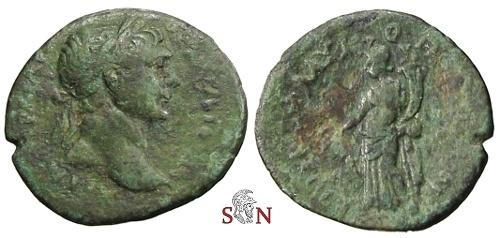 Ancient Coins - Trajan, Cilicia, Flaviopolis-Flavias AE 24 mm - Tyche stg. left