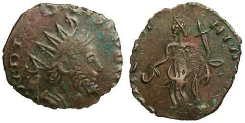 Ancient Coins - Tetricus I Local Imitation - Concordia standing left - barbarous radiate