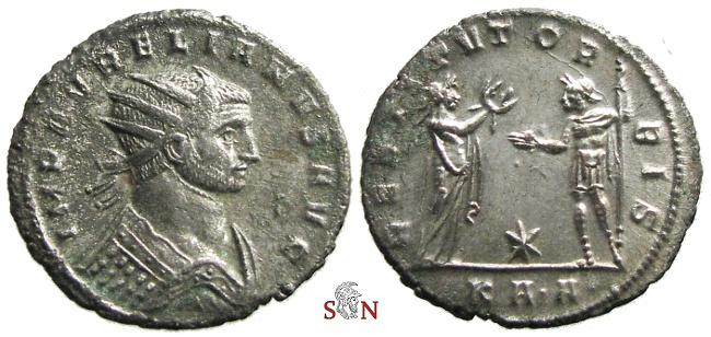 Ancient Coins - Aurelianus Antoninianus - RESTITVT ORBIS - RIC 289 - rare