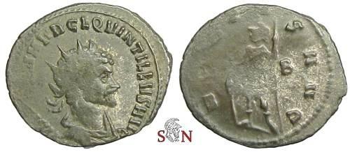 Ancient Coins - Quintillus Antoninianus - VIRTVS AVG - RIC 35