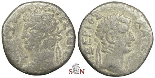 Ancient Coins - Nero Tetradrachm - Head of Tiberius right - RPC 5295