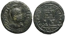 Ancient Coins - Crispus Follis - very rare VIRTVS EXERCIT - Trier mint - RIC 261