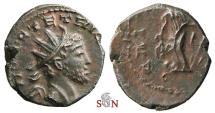Ancient Coins - Tetricus I. local imitation - Laetitia stg. left - barbarous radiate