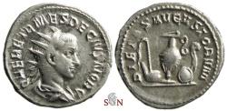 Ancient Coins - Herennius Etruscus Antoninianus - PIETAS AVGVSTORVM - RIC 143