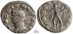 Ancient Coins - Gallienus Antoninianus - MARTI PACIFE - Goebl 1034 e