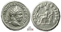 Ancient Coins - Caracalla Denarius - Salus seated left - RIC 196