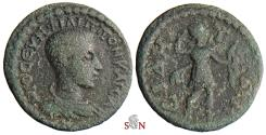 Ancient Coins - Pamphylia, Side, AE 18 mm - Philippus II - Artemis - SNG Leypold 1909