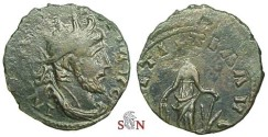 Ancient Coins - Tetricus I Local Imitation - LAETITIA AVG