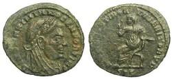 Ancient Coins - Divus Maximianus Half Follis - Emperor seated left - RIC 41