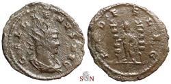 Ancient Coins - Gallienus Antoninianus - FIDES LEG - Goebl 1657 f
