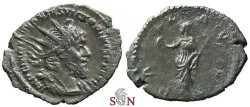 Ancient Coins - Victorinus Antoninianus - Very Rare first emission with the full name of Victorinus - Elmer 646