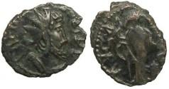 Ancient Coins - Tetricus I local imitation - deity holding sceptre