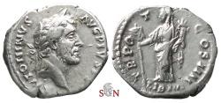Ancient Coins - Antoninus Pius Denarius - Liberalitas standing left - RIC 156