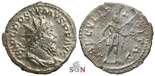 Ancient Coins - Postumus Antoninianus - SAECVLI FELICITAS - Elmer 593
