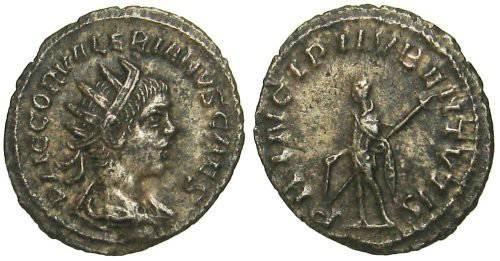 Ancient Coins - Valerianus II Antoninianus - PRINCIPI IV B ENTVTIS - VERY RARE - not in RIC