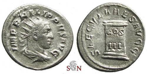 Ancient Coins - Philippus I. Antoninianus - SAECVLARES AVGG - RIC 24c