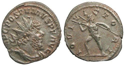 Ancient Coins - Postumus Antoninianus - IOVI VICTORI - Elmer 571