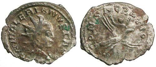 Ancient Coins - Saloninus local imitation Antoninianus - CONSACRATIO - Very Rare