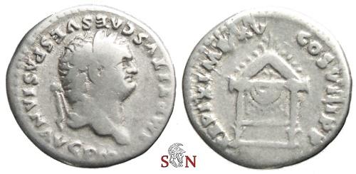 Ancient Coins - Titus Denarius - Draped throne - RIC 124