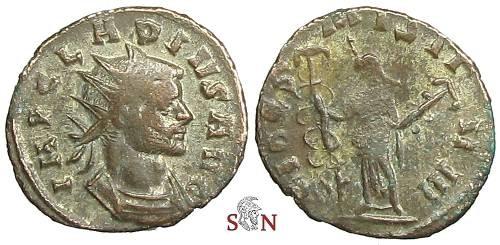 Ancient Coins - Claudius II Gothicus Antoninianus - local imitation - FIDES MILITVM