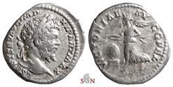 Ancient Coins - Septimius Severus Denarius - VICTORIAE AVGG FEL - RIC 516