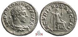 Ancient Coins - Elagabalus Denarius- SECVRITAS SAECVLI - RIC 145