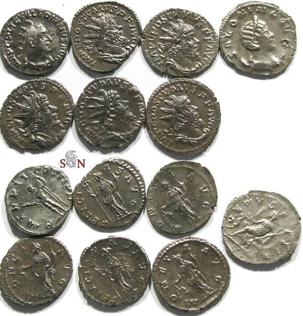 Ancient Coins - Lot of 7 Antoniniani, Valerianus I, Salonina, 5 x Postumus.