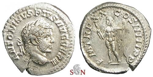 Ancient Coins - Caracalla Denarius - COS IIIII - probably unrecorded