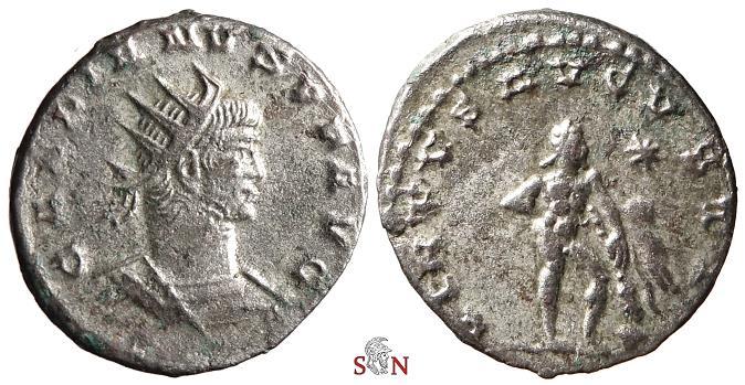 Ancient Coins - Gallienus Antoninianus - VIRTVS AVGVSTI - Hercules - Goel 1616e - Antioch mint - 4,36 g