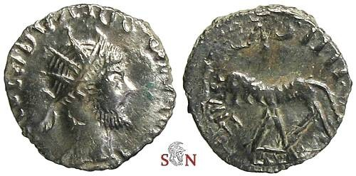 Ancient Coins - Tetricus I local imitation - Panther advancing left - Very Rare