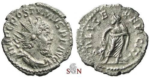 Ancient Coins - Postumus Antoninianus - SALVS EXERCITI - Elmer 418 - scarce