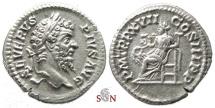Ancient Coins - Septimius Severus Denarius - Salus seated left - RIC 230