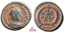Ancient Coins - Theodosius I AE 14 mm - VOT / X / MV•LT / X X within wreath