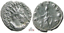 Ancient Coins - South Petherton Hoard (UK) - Tetricus I. Antoninianus - SALVS AVGG - Elmer 788