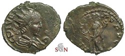 Ancient Coins - Tetricus II local imitation - Hilaritas stg. left - Reverse of Tetricus I