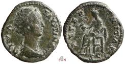 Ancient Coins - Diva Faustina I Ae As - ATERNITAS - RIC 1156