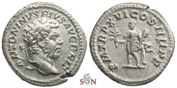 Ancient Coins - Caracalla Denarius - Hercules holding club and branch - RIC 206 a