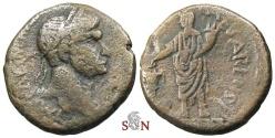 Ancient Coins - Trajan AE 24 mm - Judaea, Caesarea Maritima - Emperor sacrificing over altar
