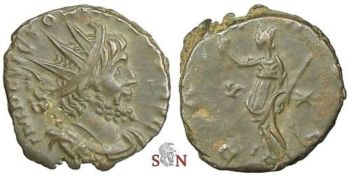 Ancient Coins - Victorinus Antoninianus - PAX AVG / branch - AGK 15