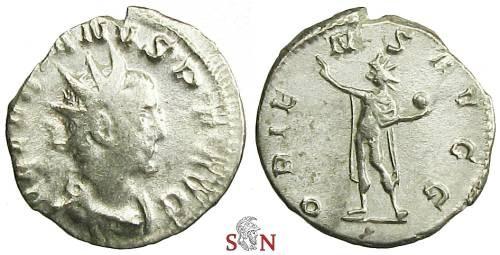 Ancient Coins - Valerianus Antoninianus - ORIENS AVG - Cologne mint - RIC 13