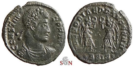 Ancient Coins - Constans AE 16 mm - VICTORIAE DD AVGG Q NN - Siscia mint - RIC 185