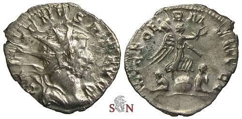 Ancient Coins - Gallienus Antoninianus - VICT GERMANICA - RIC 49