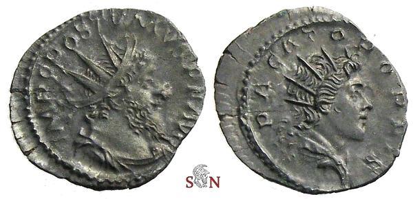 Ancient Coins - Postumus Antoninianus - PACATOR ORBIS - Elmer 599 - rare