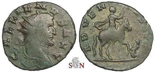 Ancient Coins - Gallienus Antoninianus - ADVENTVS AVG - RIC 551 - high rarity