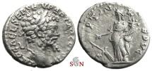 Ancient Coins - Septimius Severus Denarius - FORTVN REDVC - Fortuna - Emesa mint - RIC 377