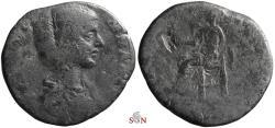 Ancient Coins - Julia Domna Sestertius - VESTA - RIC 843